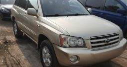 2003 TOYOTA HIGHLANDER LIMITED On Pre Order US to Lagos @1.750m Call:08033720954